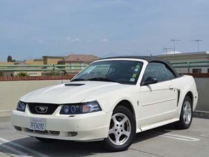 2002 Ford Mustang Deluxe Carfax Report  Oxford White         9604 Per Month - On Approved Cr