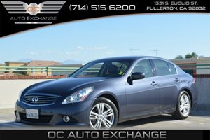 2012 Infiniti G37 Sedan Journey Carfax 1-Owner  Blue Slate 25492Per Month - On Approved Cred