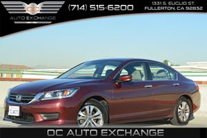 2014 Honda Accord Sedan LX Carfax 1-Owner - No Accidents  Damage Reported to CARFAX 2 12V Dc Pow