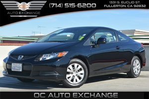 2012 Honda Civic Cpe LX Carfax Report Air Conditioning  AC Audio  Auxiliary Audio Input Audi