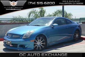 2003 Infiniti G35 Coupe wLeather Carfax Report Air Conditioning  AC Audio  AmFm Stereo Fue