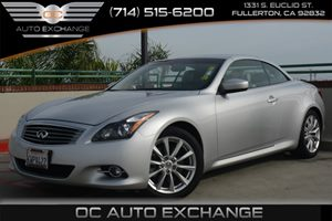 2012 Infiniti G37 Convertible Base Carfax 1-Owner - No Accidents  Damage Reported to CARFAX Air
