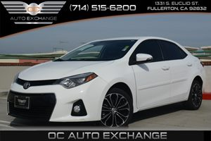 2014 Toyota Corolla S Plus Carfax 1-Owner Air Conditioning  AC Air Conditioning  Climate Cont