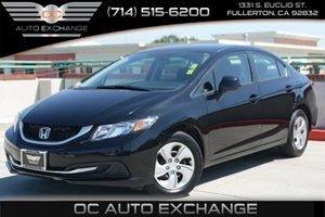 2013 Honda Civic Sdn LX Carfax 1-Owner Air Conditioning  AC Audio  Auxiliary Audio Input Aud