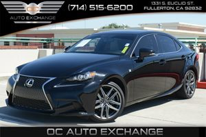 2015 Lexus IS 250 F Sport Crafted Line Carfax 1-Owner Air Conditioning  Climate Control Air Con