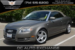 2007 Audi A4 20T Carfax Report Air Conditioning  Climate Control Audio  Cd Player Convenienc