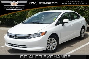 2012 Honda Civic Sdn LX Carfax 1-Owner Audio  AmFm Stereo Audio  Auxiliary Audio Input Audio