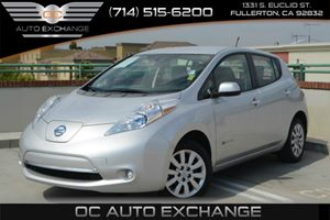 2014 Nissan LEAF S Carfax 1-Owner Air Conditioning  AC Air Conditioning  Climate Control Aud