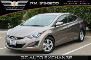 2015 Hyundai Elantra SE Carfax 1-Owner Air Conditioning  AC Audio  Auxiliary Audio Input Aud
