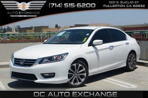 2015 Honda Accord Sedan Sport Carfax 1-Owner Air Conditioning  Climate Control Air Conditioning