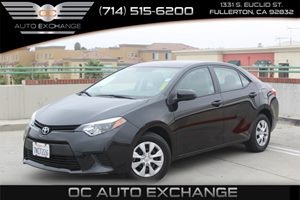 2016 Toyota Corolla L Carfax 1-Owner - No Accidents  Damage Reported to CARFAX  Black Sand Pea