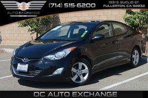2013 Hyundai Elantra GLS Carfax 1-Owner Air Conditioning  AC Audio  Auxiliary Audio Input Au