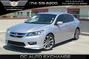 2014 Honda Accord Sedan Sport Carfax 1-Owner  Alabaster Silver Metallic          23543 Per M