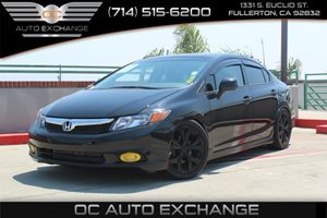 2012 Honda Civic Sdn Si Carfax 1-Owner  Crystal Black Pearl          19646 Per Month - On  A