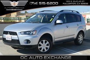 2013 Mitsubishi Outlander ES Carfax 1-Owner Air Conditioning  AC Audio  Mp3 Player Convenien