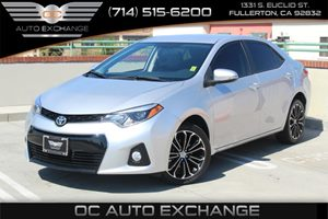 2014 Toyota Corolla S Carfax 1-Owner  Classic Silver Metallic          18347 Per Month - On