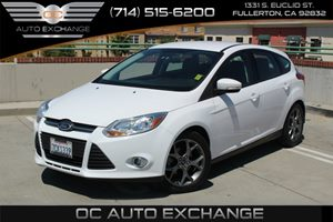 2014 Ford Focus SE Carfax 1-Owner  Oxford White          15612 Per Month - On  Approved Cred