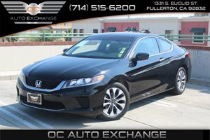 2013 Honda Accord Cpe LX-S Carfax 1-Owner  Crystal Black Pearl          20295 Per Month - On
