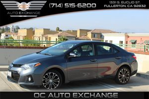 2016 Toyota Corolla S Carfax 1-Owner - No AccidentsDamage Reported  Gray  We are not responsi