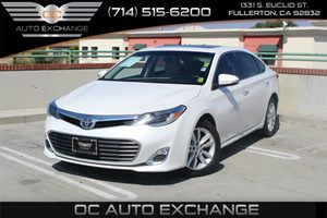 2013 Toyota Avalon XLE Carfax 1-Owner  White          21205 Per Month - On Approved Credit