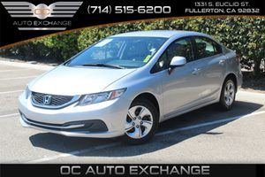 2013 Honda Civic Sdn LX Carfax Report  Alabaster Silver Metallic  We are not responsible for t
