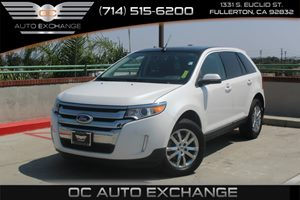 2013 Ford Edge SEL Carfax 1-Owner - No AccidentsDamage Reported  White Platinum Tri-Coat Metal