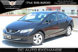 2013 Honda Civic Sdn LX Carfax 1-Owner  Crystal Black Pearl          16008 Per Month - On Ap