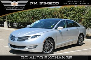 2013 Lincoln MKZ 20L Fuel Injection Carfax 1-Owner  Ingot Silver Metallic          23803 Pe