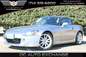 2005 Honda S2000  Carfax 1-Owner - No AccidentsDamage Reported  Gray  We are not responsible
