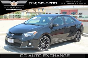 2014 Toyota Corolla S Carfax 1-Owner - No AccidentsDamage Reported  Black Sand Mica