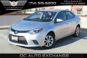 2015 Toyota Corolla LE Carfax Report - No AccidentsDamage Reported  Classic Silver Metallic