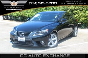 2014 Lexus IS 350 W Navi Carfax 1-Owner  Black          35377 Per Month - On Approved Credi