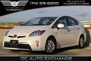 2013 Toyota Prius Plug-In  Carfax 1-Owner  Super White WHITE ON CHARCOAL CLOTH PRIUS PLUG-IN