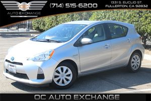 2012 Toyota Prius c One Carfax Report - No AccidentsDamage Reported  Classic Silver Metallic