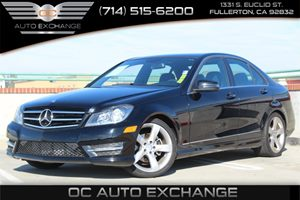 2014 MERCEDES C250 Luxury Sedan Carfax 1-Owner  Black          25102 Per Month - On Approved