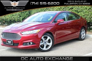 2016 Ford Fusion SE Carfax 1-Owner - No AccidentsDamage Reported  Ruby Red Metallic Tinted Cle