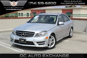 2014 MERCEDES C250 Luxury Sedan Carfax 1-Owner - No AccidentsDamage Reported  Diamond Silver M