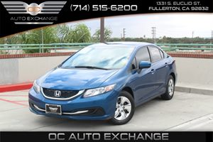2015 Honda Civic Sedan LX Carfax Report  Dyno Blue Pearl  We are not responsible for typograph