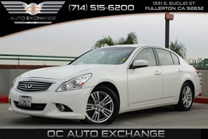 2013 Infiniti G37 Sedan Journey Carfax 1-Owner - No AccidentsDamage Reported  Moonlight White
