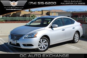 2014 Nissan Sentra SL Carfax Report - No AccidentsDamage Reported  Brilliant Silver  We are n