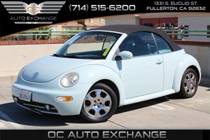 2003 Volkswagen New Beetle Convertible GLS Carfax Report - No AccidentsDamage Reported  Lt Bl