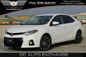 2014 Toyota Corolla Sport Carfax 1-Owner - No AccidentsDamage Reported  Super White