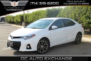 2014 Toyota Corolla S Carfax 1-Owner - No AccidentsDamage Reported  Super White  Gobble up ex