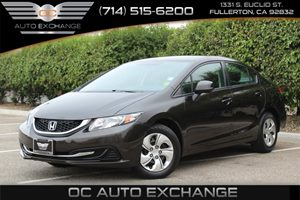2013 Honda Civic Sdn LX Carfax 1-Owner  Dk Brown  YouGre going to need a bigger stocking T