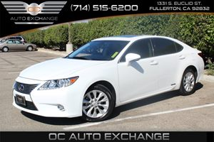 2015 Lexus ES 300h Hybrid Carfax 1-Owner - No AccidentsDamage Reported  White          3727