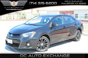 2014 Toyota Corolla S Carfax 1-Owner - No AccidentsDamage Reported  Black Sand Mica  Gobble u