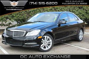 2014 MERCEDES C300 4MATIC Luxury Sedan Carfax 1-Owner  Black          30321 Per Month - On A