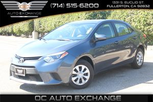 2016 Toyota Corolla L Carfax 1-Owner - No AccidentsDamage Reported  Blue  We are not responsi