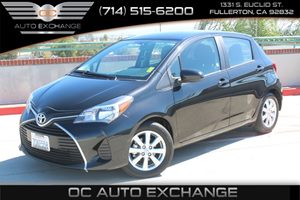2016 Toyota Yaris L Carfax 1-Owner - No AccidentsDamage Reported  Barcelona Red MetallicBlack