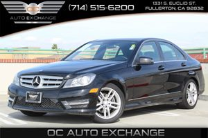2014 MERCEDES C250 Luxury Sedan Carfax 1-Owner  Black          26401 Per Month - On Approved